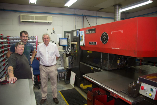 Manufacturing the chassis with modern technology at Teversham Engineering, Cambridge